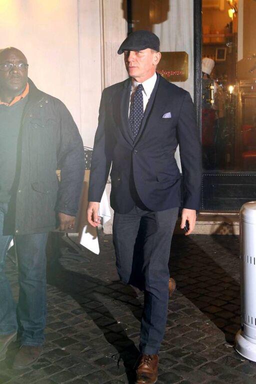 Daniel Craig sporting Tom Cridland chinos