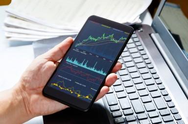 Stock market data on moblie phone