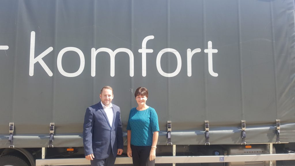 Lewis Mitchell - Business Development Manager - Midlands and Catherine Gordon, Fleet Controller for Komfort Partitioning Limited.